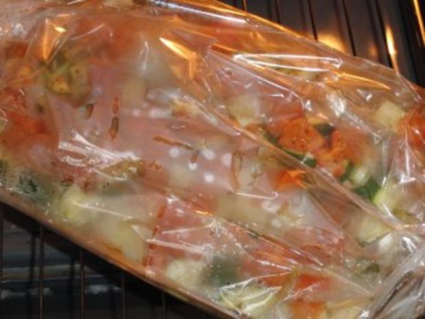 Fisch : Lachs im feinen und frischen Gemüseauflauf - Rezept - Bild Nr. 7