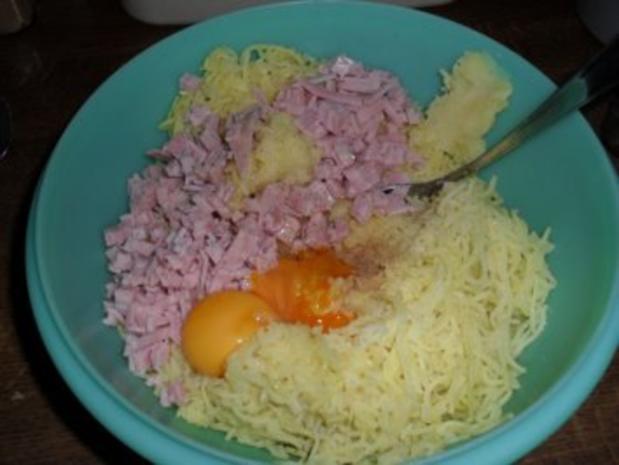 Pastinaken-Kartoffelplätzchen mit Schinken - Rezept - Bild Nr. 6