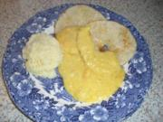 Sellerieschnitzel mit Mango/Meerrettichsauce nach Weight Watchers - Rezept