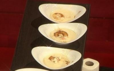 Apfel-Sellerie-Suppe mit Flusskrebsen - Rezept