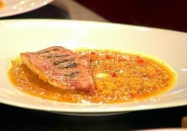 Rezept: Rotbarbe mit orientalischem Couscous
