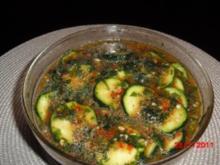 Pikante Vorspeise aus Zucchini - Rezept