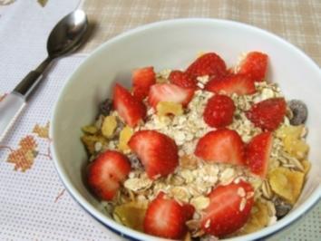 Hanfmüsli mit frischen Erdbeeren - Rezept