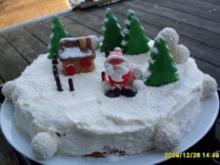 Deko Weihnachtstorte - Rezept