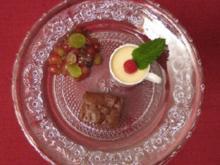 Brownies mit Birnen und Walnüssen - Rezept