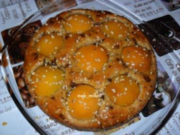 Pfirsichkuchen mit Schokostückchen - Rezept