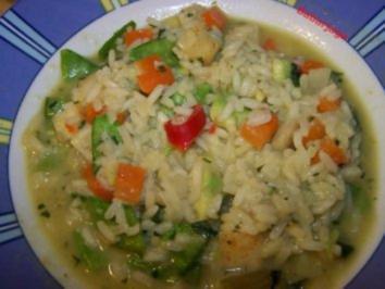 Gemüse - Risotto mit Avocado - Rezept