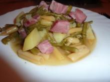 Fl/Schwein: Kasseler-Bohnenpfanne - Rezept