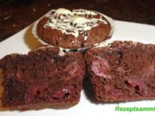 Muffin:   SCHOKO - CHILLI - KIRSCHEN - Rezept