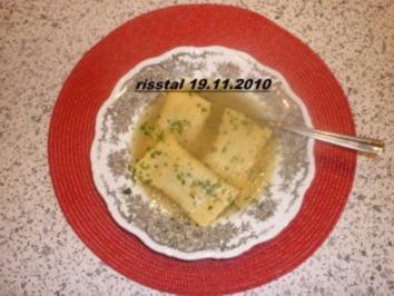 Rezept: Grüne Krapfen  in Rinderbrühe