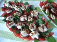 SALAT   / Tomaten & Flußkrebse /Tomaten & Ziegenfrischkäse - Rezept