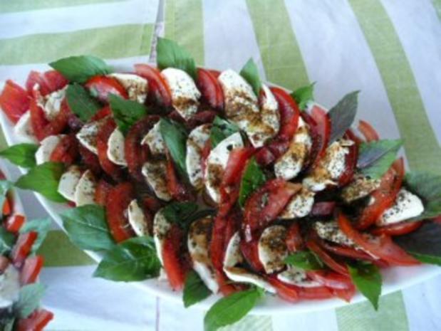 SALAT   / Tomaten & Flußkrebse /Tomaten & Ziegenfrischkäse - Rezept - Bild Nr. 2