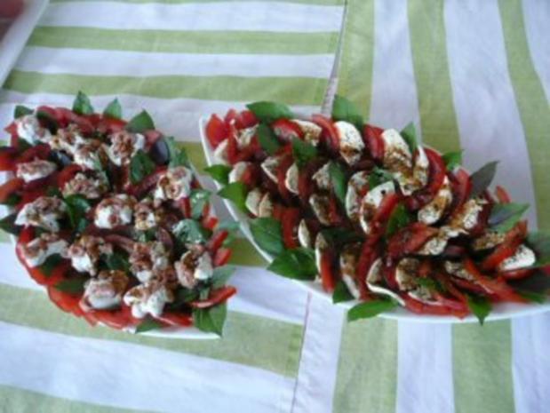 SALAT   / Tomaten & Flußkrebse /Tomaten & Ziegenfrischkäse - Rezept - Bild Nr. 3