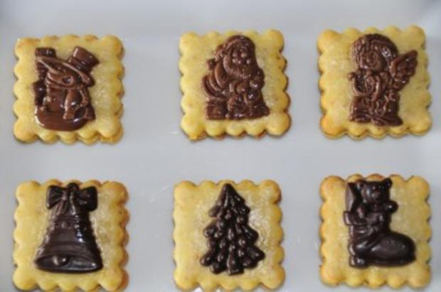 Weihnachtsplätzchen - Orangen-Marzipan-Kekse - Rezept