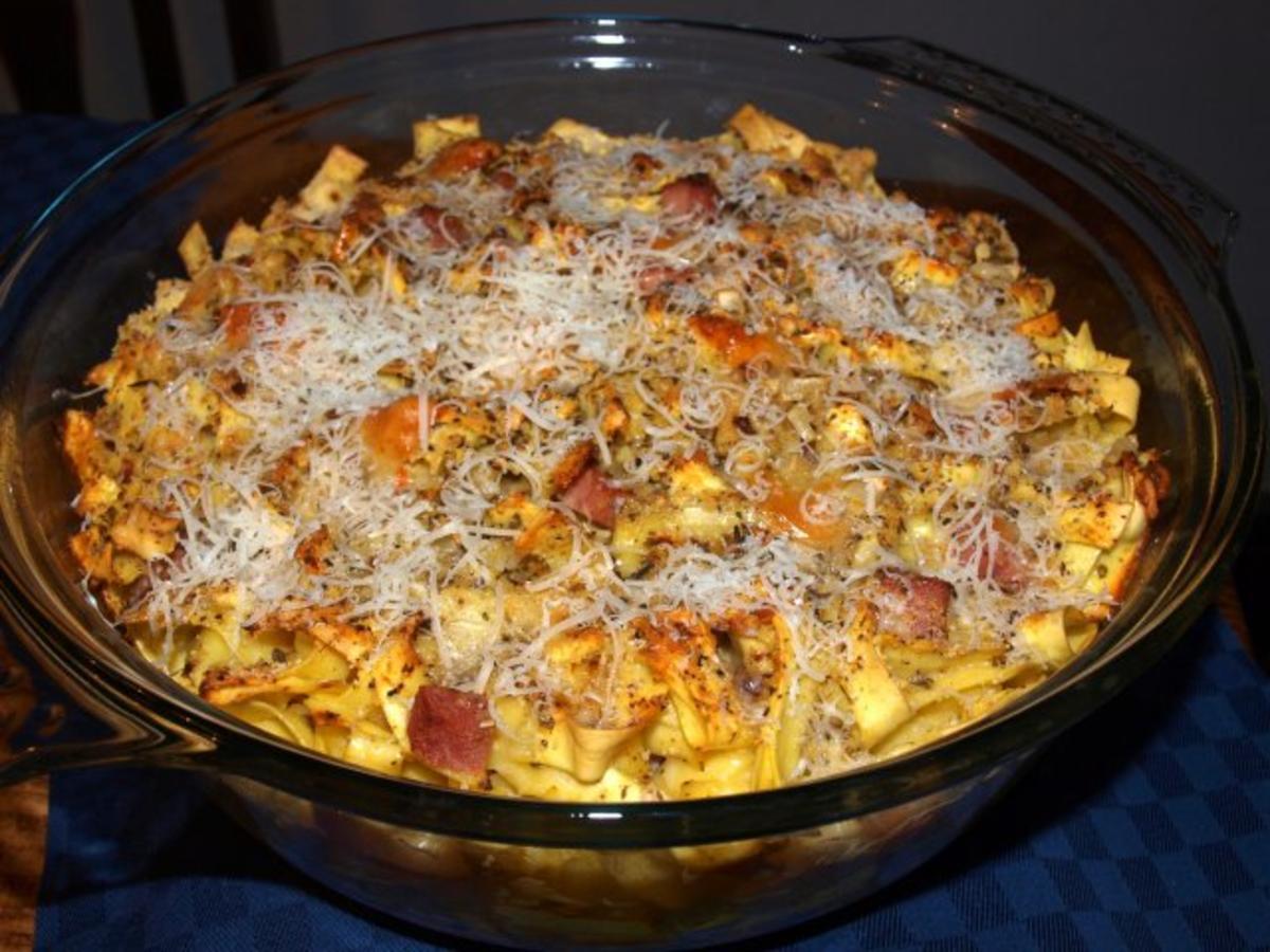 Nudelauflauf mit Schinken (Tagliatelle al forno) - Rezept Durch pasta-michele