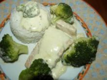 Lachspfanne mit Käse-Sahne-Soße - Rezept