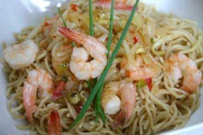Scharfe Spaghetti mit Garnelen - Rezept - Bild Nr. 2