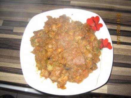 Rindsragout mit Schmorgemüse - Rezept