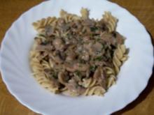 Kochen: Nudeln mit Pilzragout - Rezept