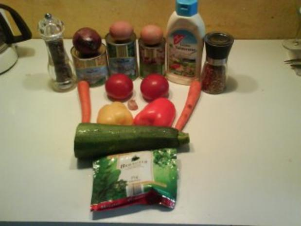 Salat: Sommerlicher Nudelsalat - Rezept - Bild Nr. 2