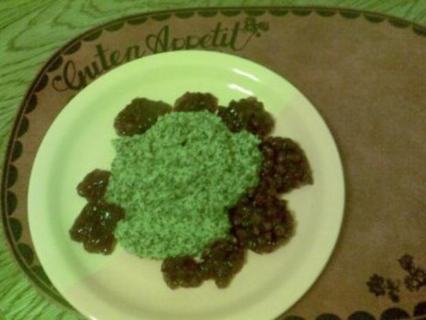 Polenta-Griesbrei mit Mohn und Preiselbeeren - Rezept