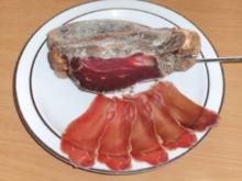 Wursten: Lammschinken mit Knochen - Rezept