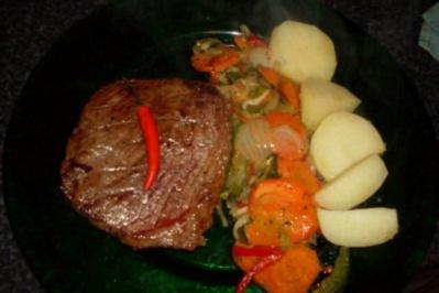 Dakota - Steak mit Paradiesgemüse & Kartoffeln - Rezept