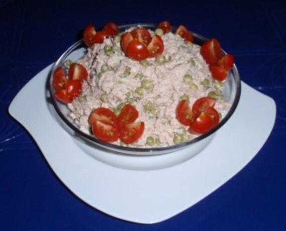 Erbsen-Eier-Thunfisch vereint zu einem Salat - Rezept - Bild Nr. 3