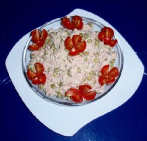 Erbsen-Eier-Thunfisch vereint zu einem Salat - Rezept - Bild Nr. 4