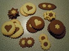 schwarz - weiß Kekse - Rezept