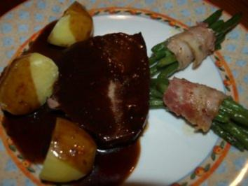 Rinderbraten in Rotweinsoße - Rezept
