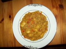 Curryfleisch mit Reis (sehr scharf ) - Rezept