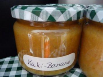 Marmelade : Kaki-Bananenmarmelde - Rezept