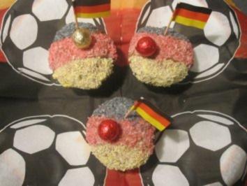 WM Deutschand Muffins Fußball Kindergeburtag - Rezept