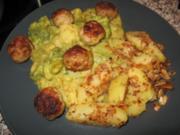 Hackbällchen mit Broccoli-Blumenkohl-Kokos-Curry - Rezept
