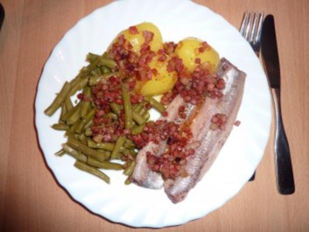 Fisch: Matjes mit Bohnen und Speckstippe - Rezept - Bild Nr. 3