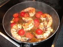 Garnelen in scharfer Tomatensoße - Rezept