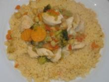Couscous mit Hähnchen - Gemüse - Ragout - Rezept