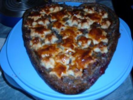 Kuchen : Blätterteig  - Mohn - Kirschen - Rezept