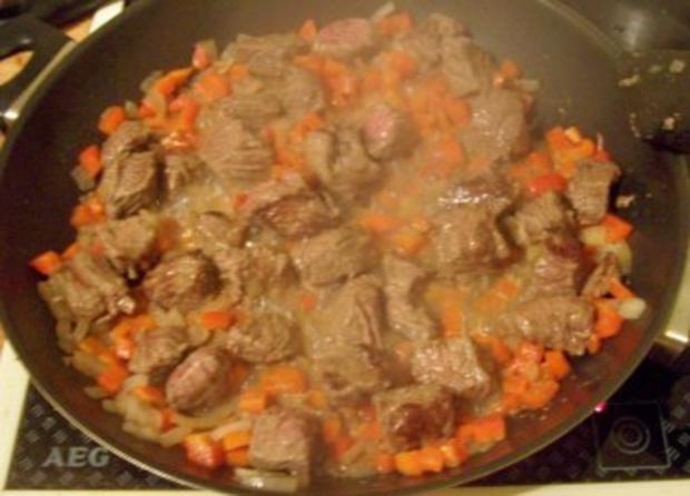Kochen: Gulasch-Nudel-Pfanne - Rezept - Bild Nr. 3