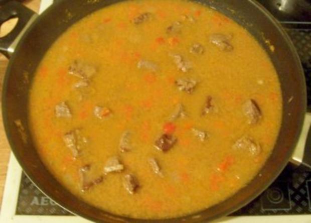 Kochen: Gulasch-Nudel-Pfanne - Rezept - Bild Nr. 4