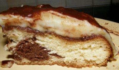 Bananenkuchen mit Pudding - Rezept