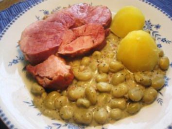 Saftige Schweineschulter mit Dicken Bohnen - Rezept - Bild Nr. 4