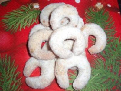 Kekse: Vanillekipferl - Rezept