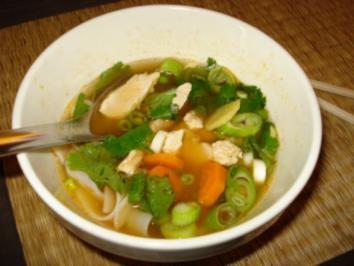 Asiatische Hühner-Nudelsuppe - Rezept