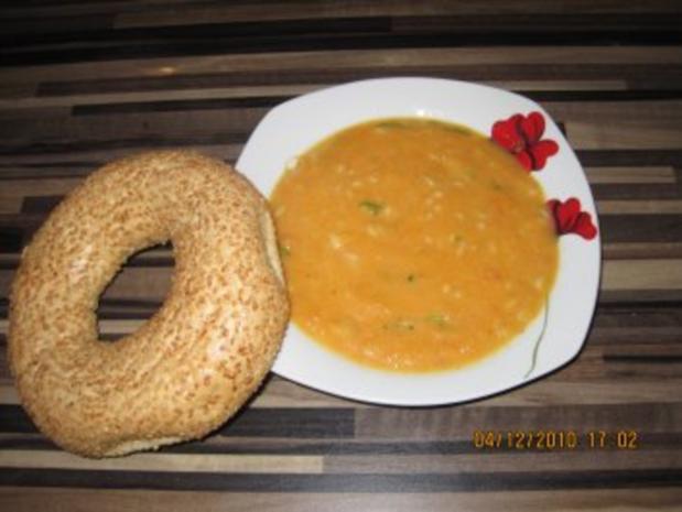 Möhrensuppe mit Ingwer und Ebly - Rezept