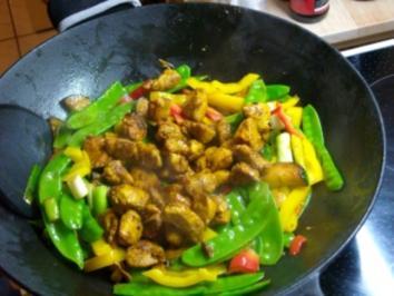 Asiatische Hähnchen-Gemüse-Pfanne - Rezept