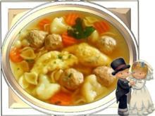 Hochzeitsuppe mit Grießnockerln - Rezept