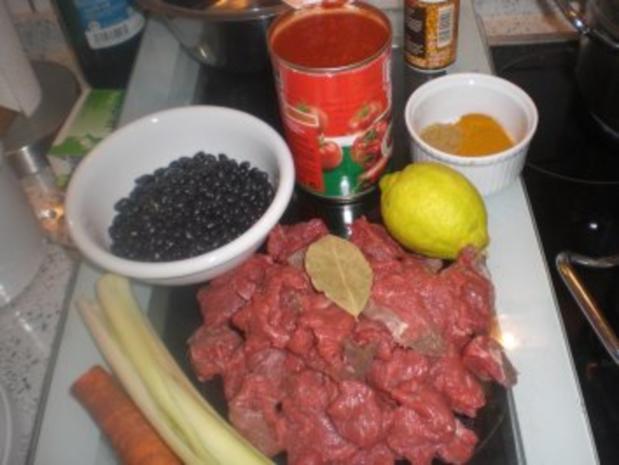 Schwarze Bohnen mit Rindfleisch - Rezept - Bild Nr. 2
