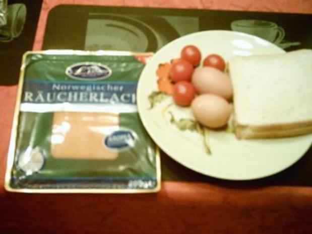 Toast mit Lachs und Ei - Rezept - Bild Nr. 2